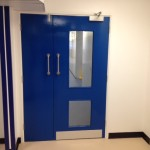 Fire door at Addenbrookes