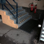 Colindale blood bank, safety steps and hand railings