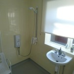 level access shower extension