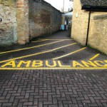 Hatched Ambulance area